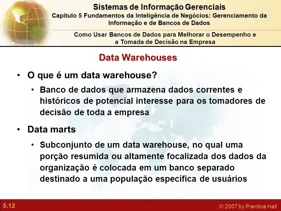 O que é um data warehouse