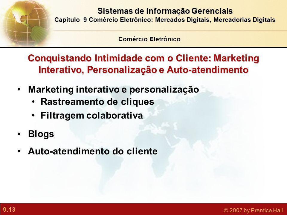 Marketing interativo e personalização Rastreamento de cliques