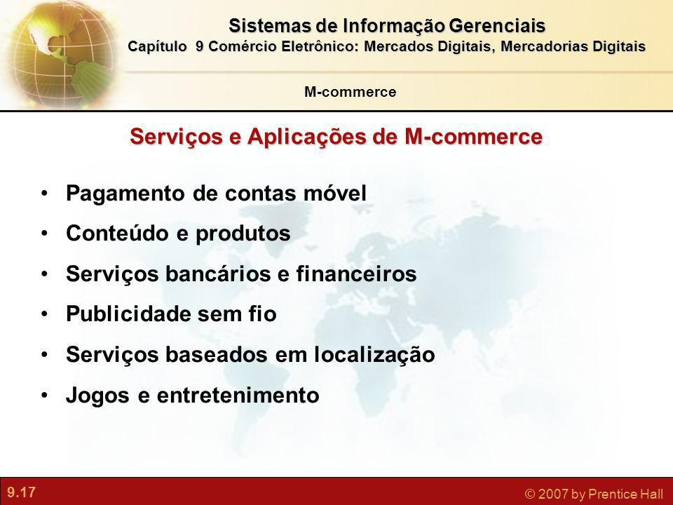 Serviços e Aplicações de M-commerce