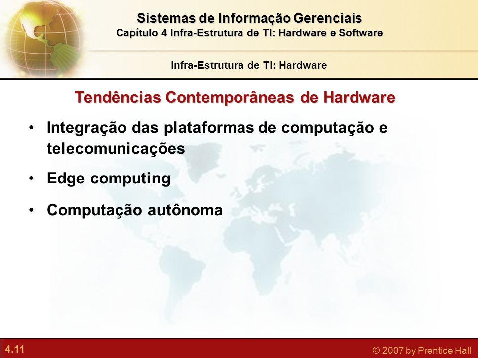 Infra-Estrutura de TI: Hardware Tendências Contemporâneas de Hardware