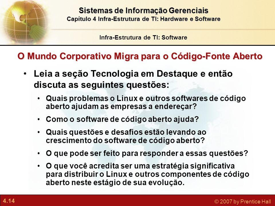 O Mundo Corporativo Migra para o Código-Fonte Aberto