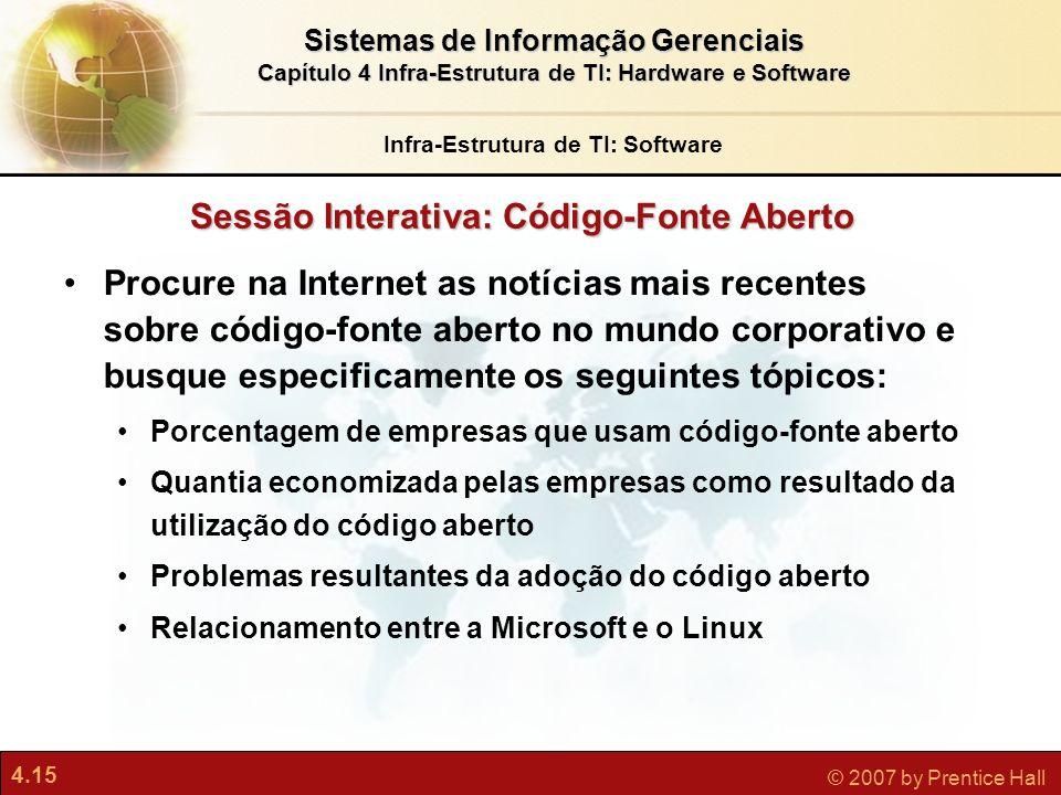 Infra-Estrutura de TI: Software Sessão Interativa: Código-Fonte Aberto