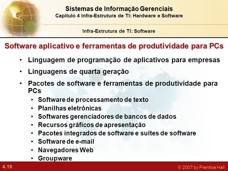Software aplicativo e ferramentas de produtividade para PCs