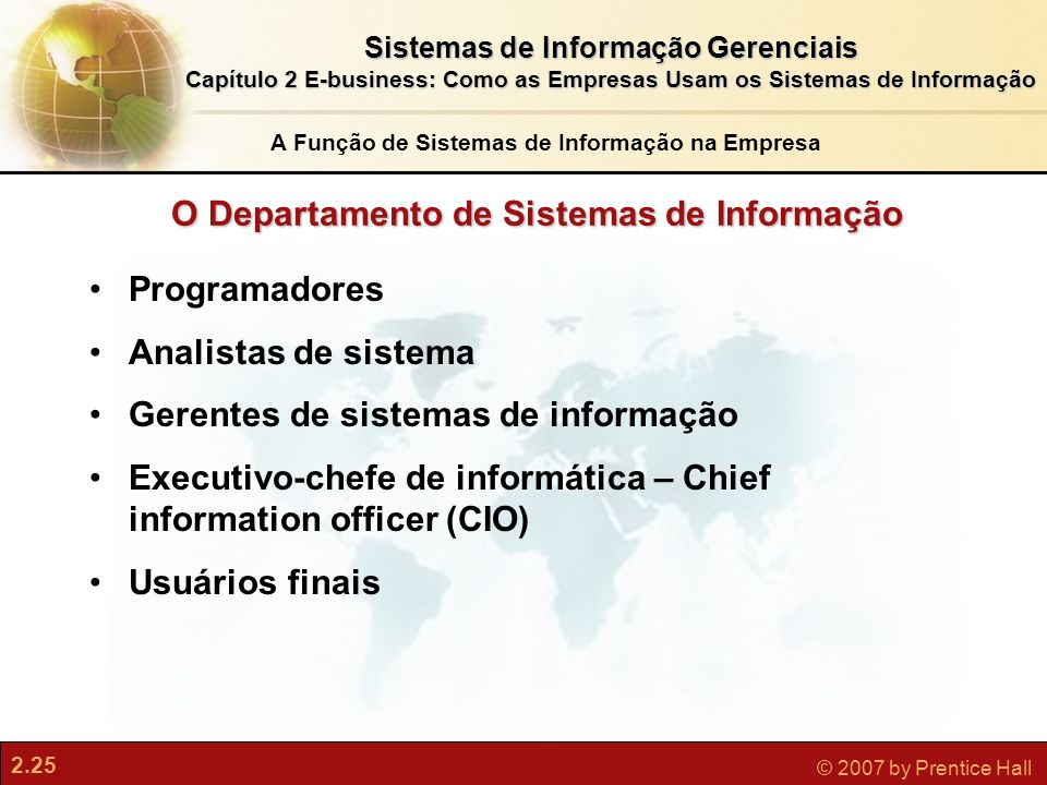 O Departamento de Sistemas de Informação