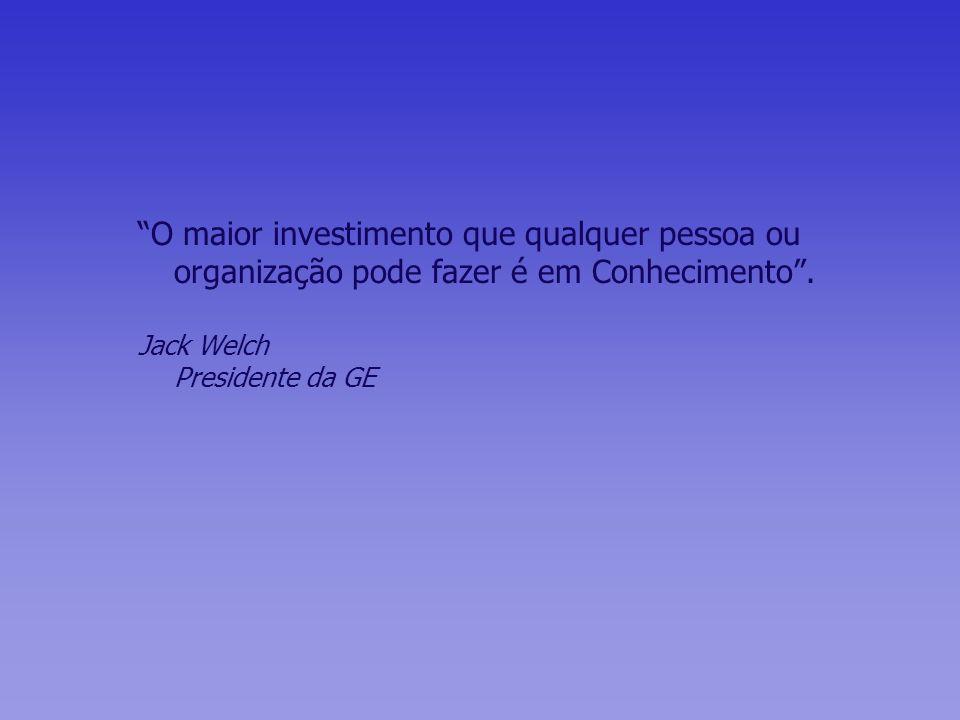 O maior investimento que qualquer pessoa ou organização pode fazer é em Conhecimento .