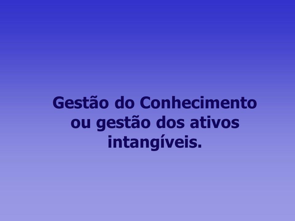 Gestão do Conhecimento ou gestão dos ativos intangíveis.