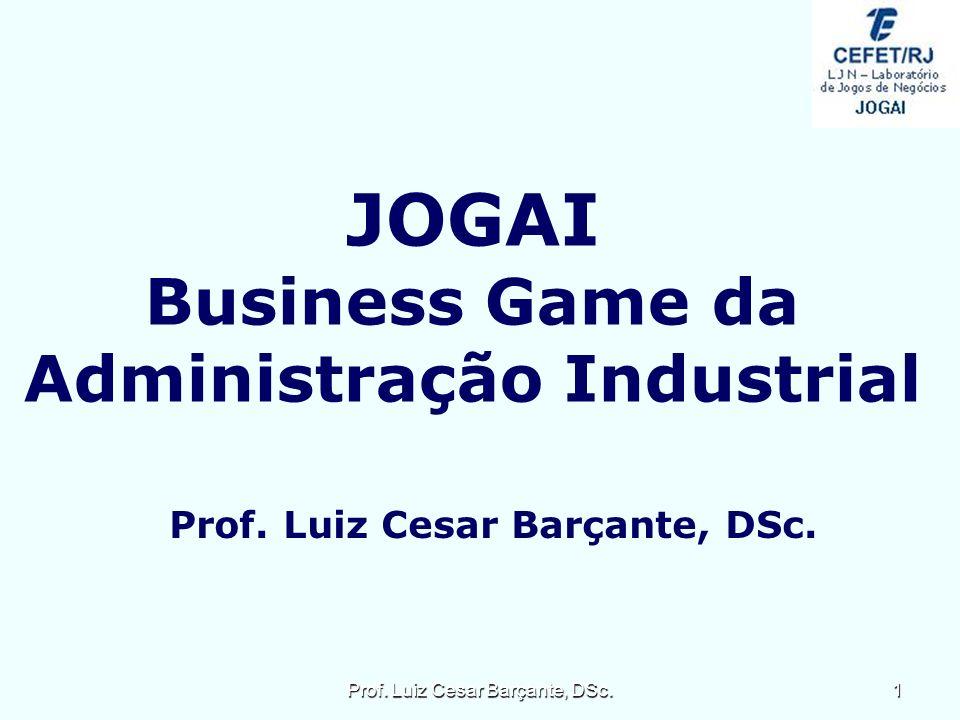 Administração Industrial Prof. Luiz Cesar Barçante, DSc.