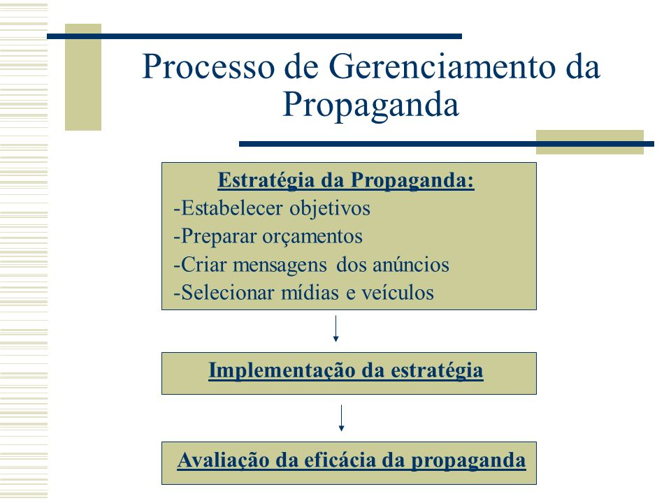 Processo de Gerenciamento da Propaganda