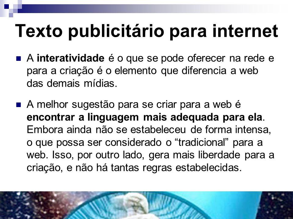 Texto publicitário para internet