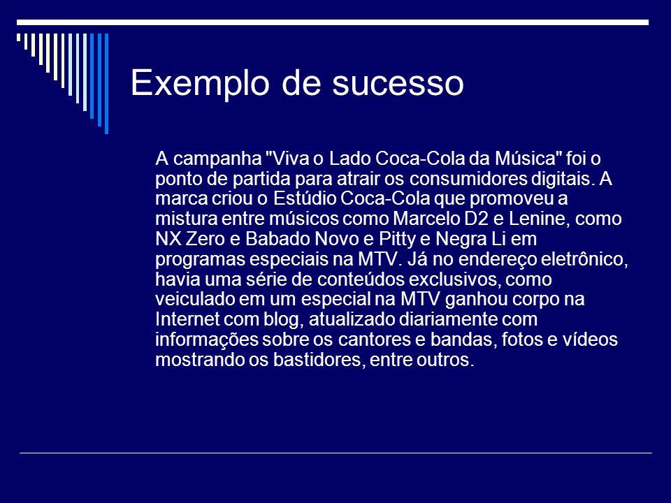 Exemplo de sucesso