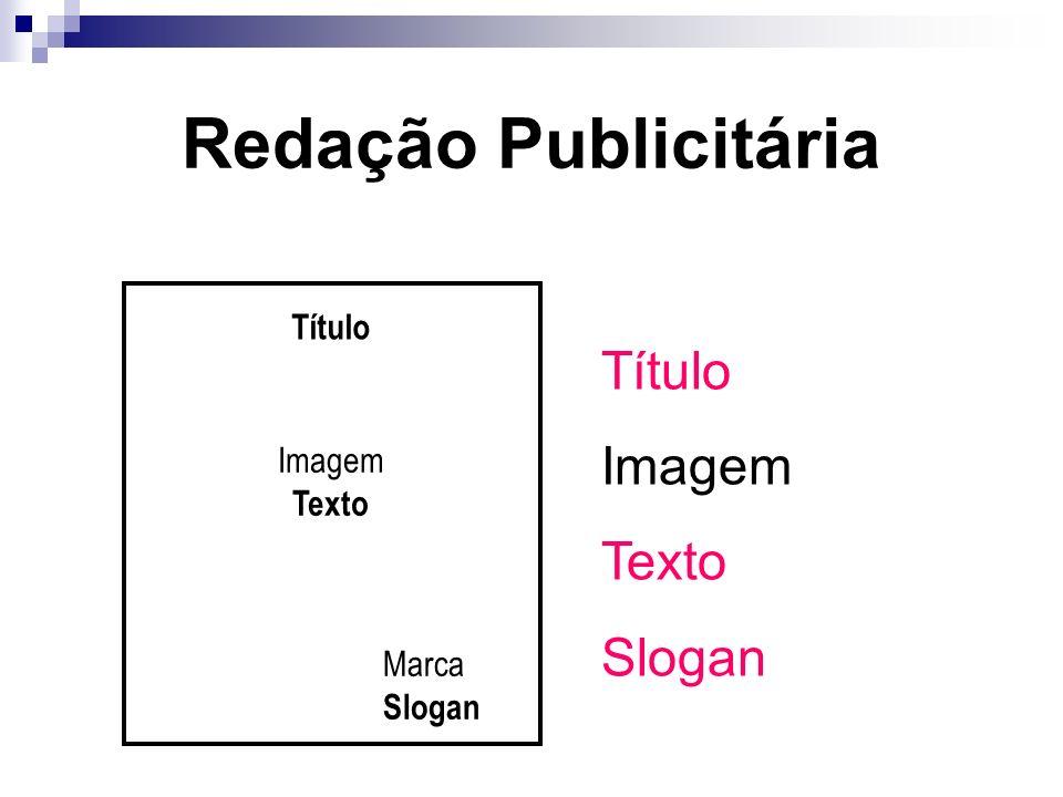 Redação Publicitária Título Imagem Texto Slogan Título Imagem Texto