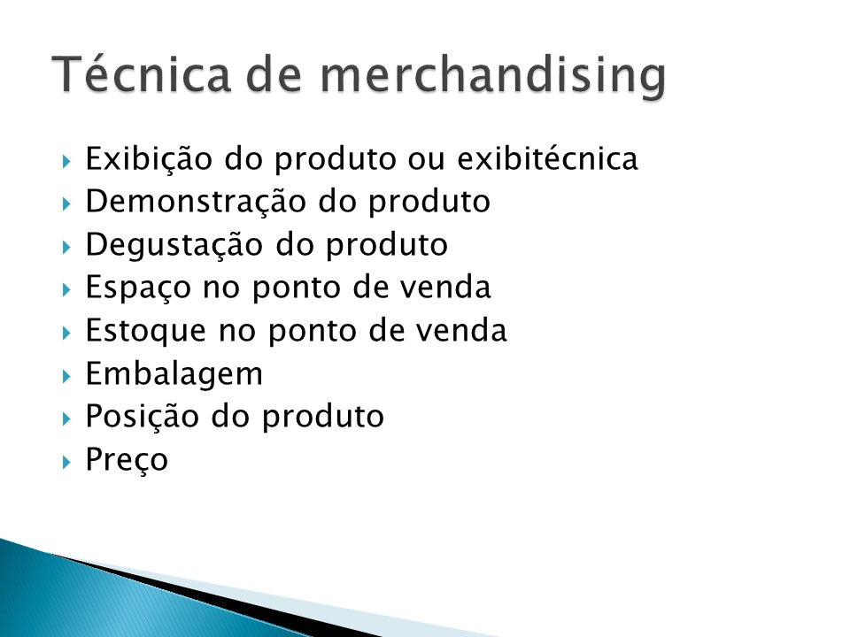 Técnica de merchandising