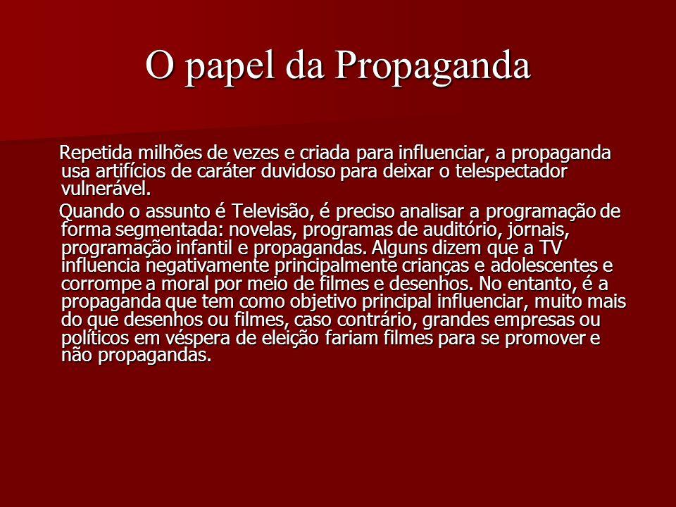 O papel da Propaganda
