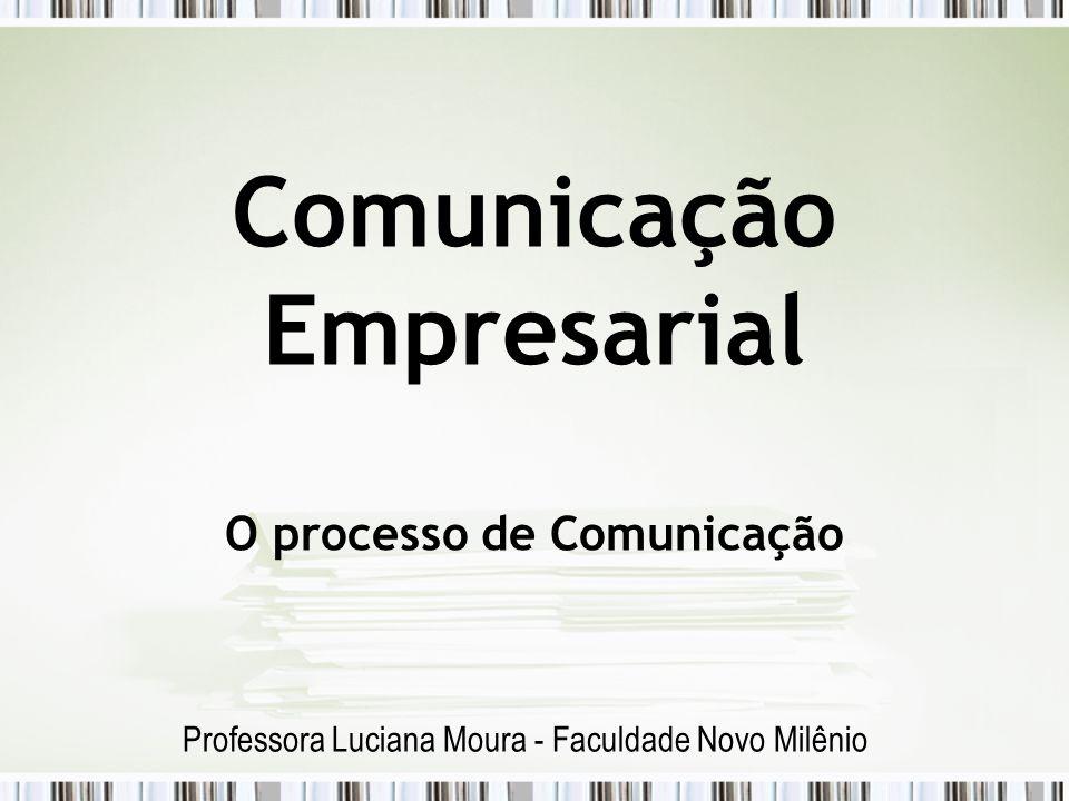 Comunicação Empresarial O processo de Comunicação