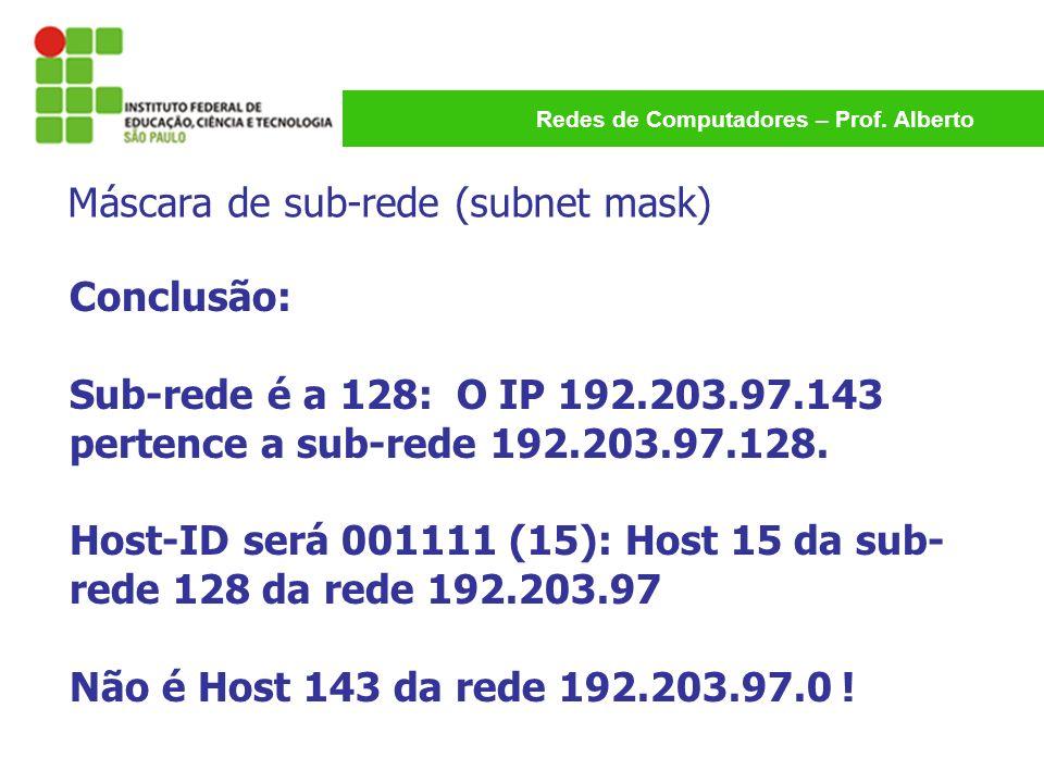 Máscara de sub-rede (subnet mask)