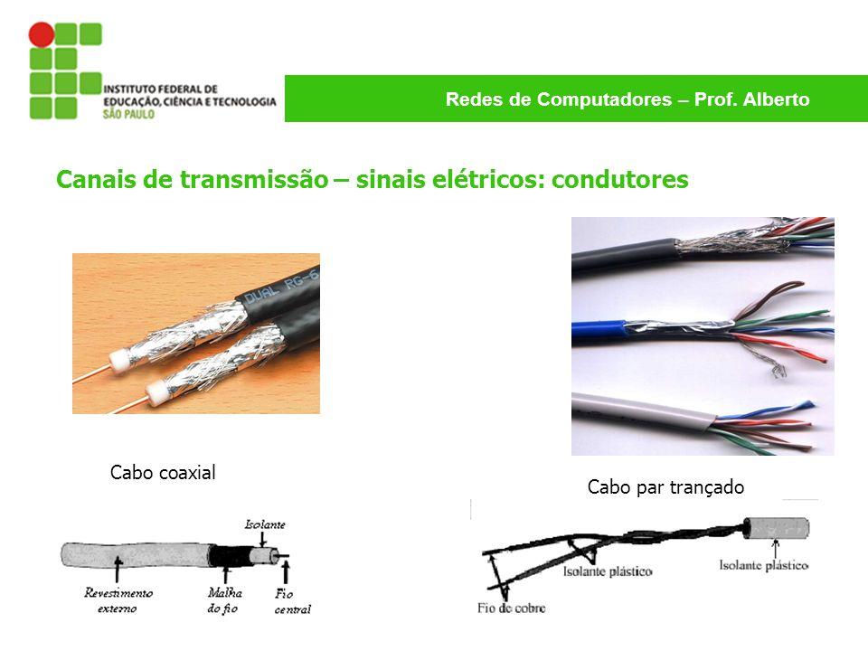 Canais de transmissão – sinais elétricos: condutores