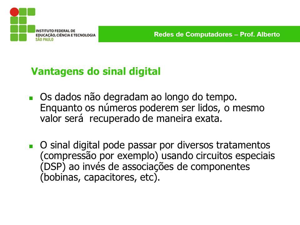Vantagens do sinal digital
