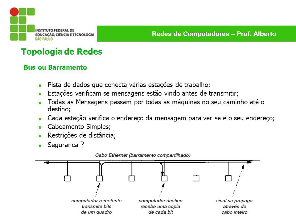Topologia de Redes Bus ou Barramento