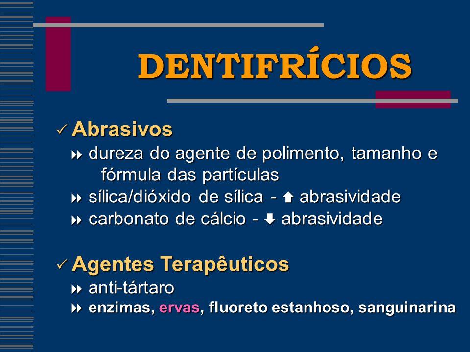 DENTIFRÍCIOS fórmula das partículas  Abrasivos