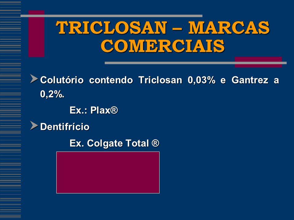 TRICLOSAN – MARCAS COMERCIAIS