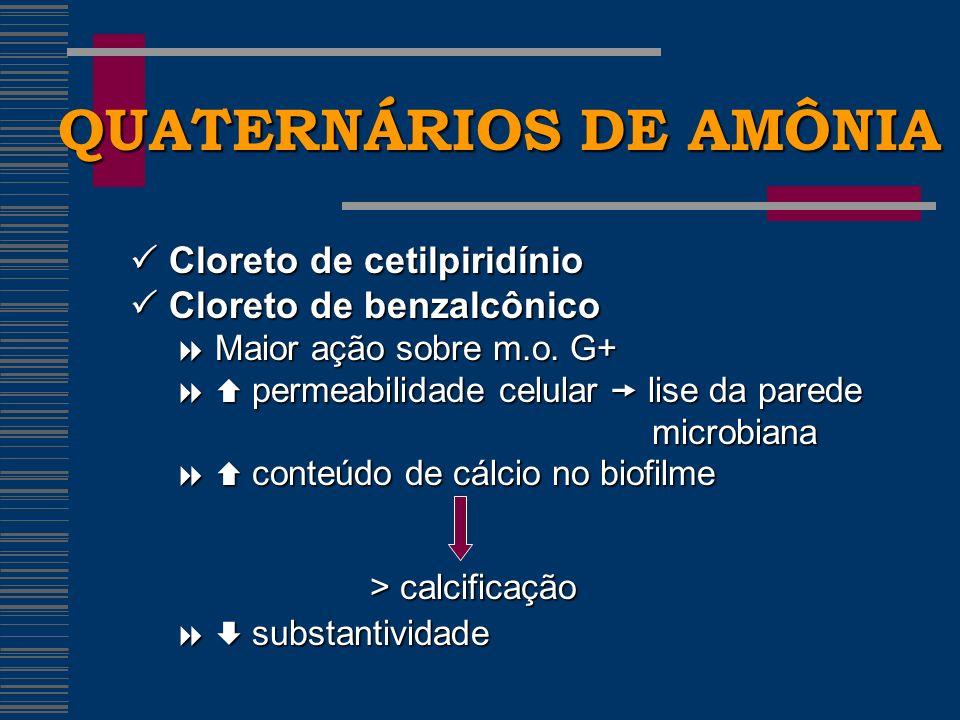 QUATERNÁRIOS DE AMÔNIA