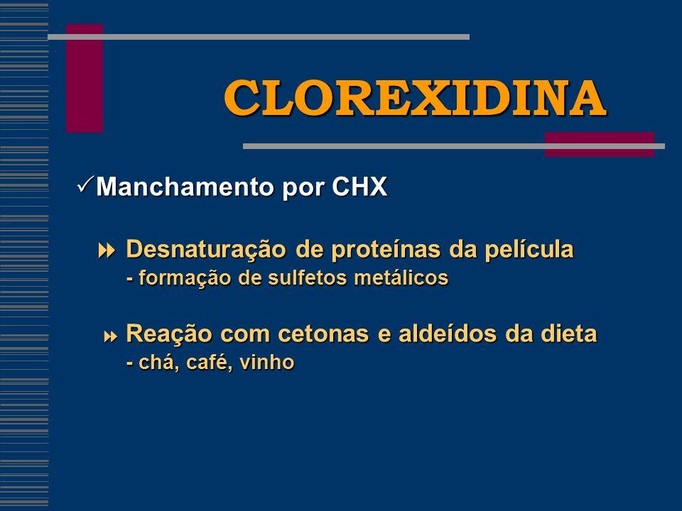 CLOREXIDINA Manchamento por CHX