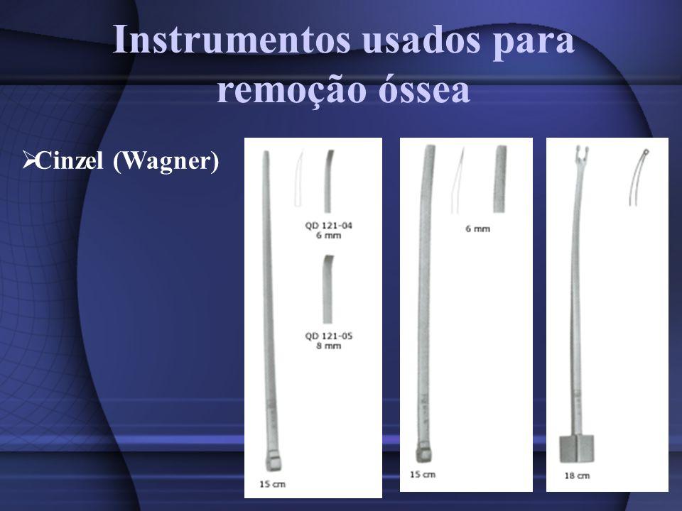 Instrumentos usados para remoção óssea