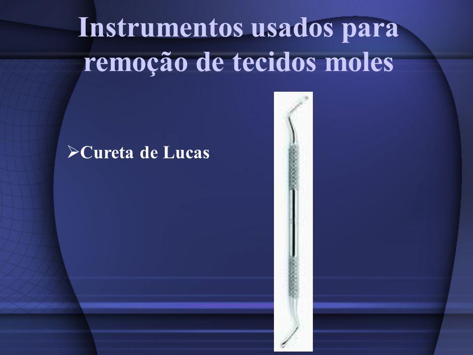 Instrumentos usados para remoção de tecidos moles