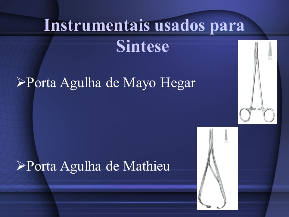 Instrumentais usados para Sintese