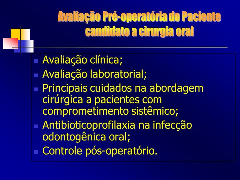 Avaliação Pré-operatória do Paciente candidato a cirurgia oral
