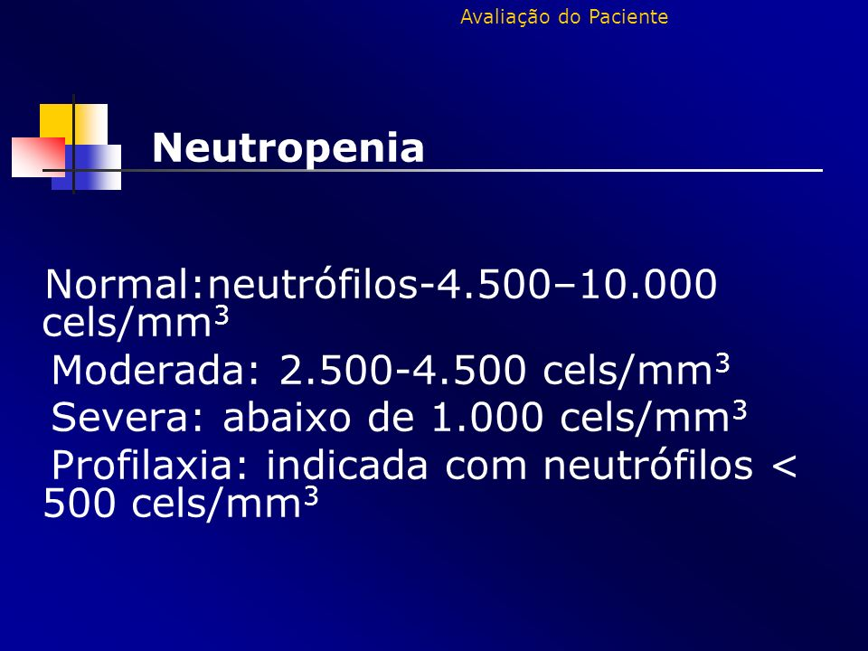 Severa: abaixo de 1.000 cels/mm3