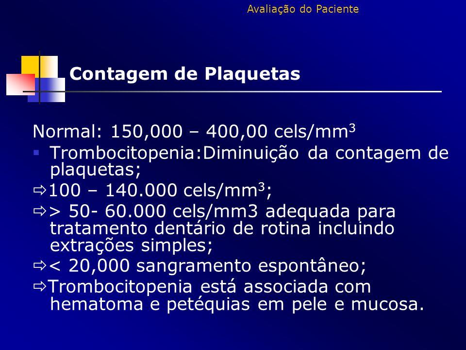Trombocitopenia:Diminuição da contagem de plaquetas;