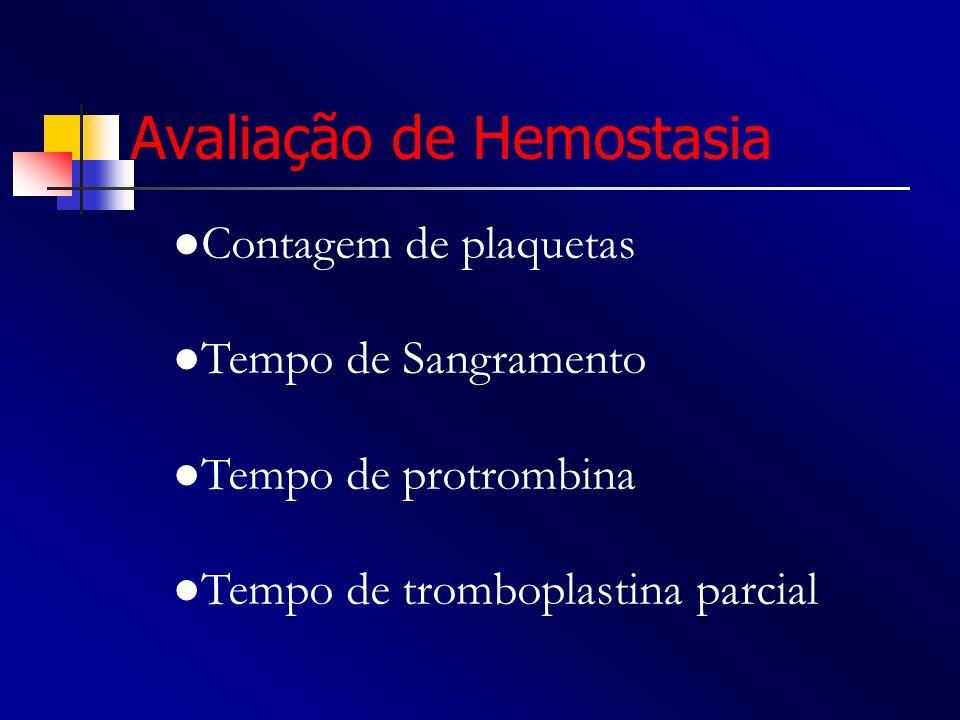 Avaliação de Hemostasia