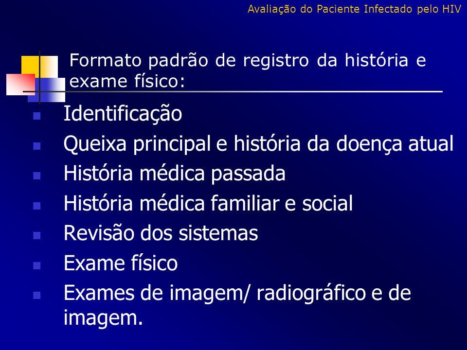 Queixa principal e história da doença atual História médica passada