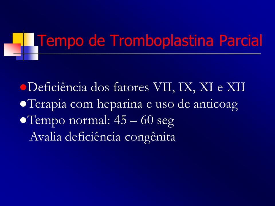 Tempo de Tromboplastina Parcial