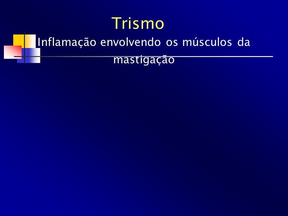 Inflamação envolvendo os músculos da mastigação