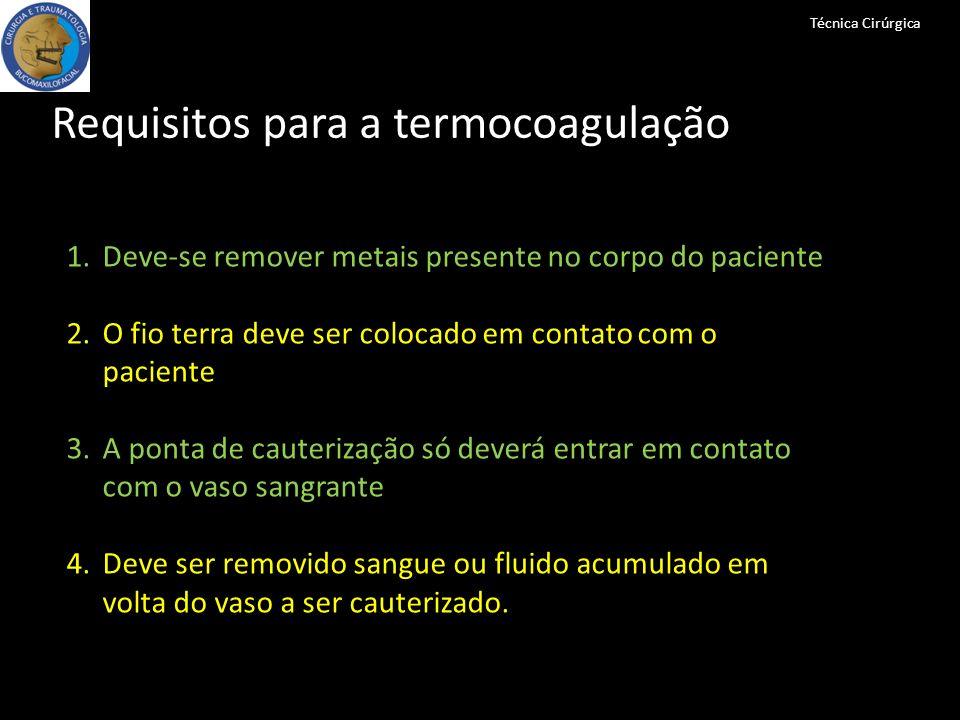 Requisitos para a termocoagulação