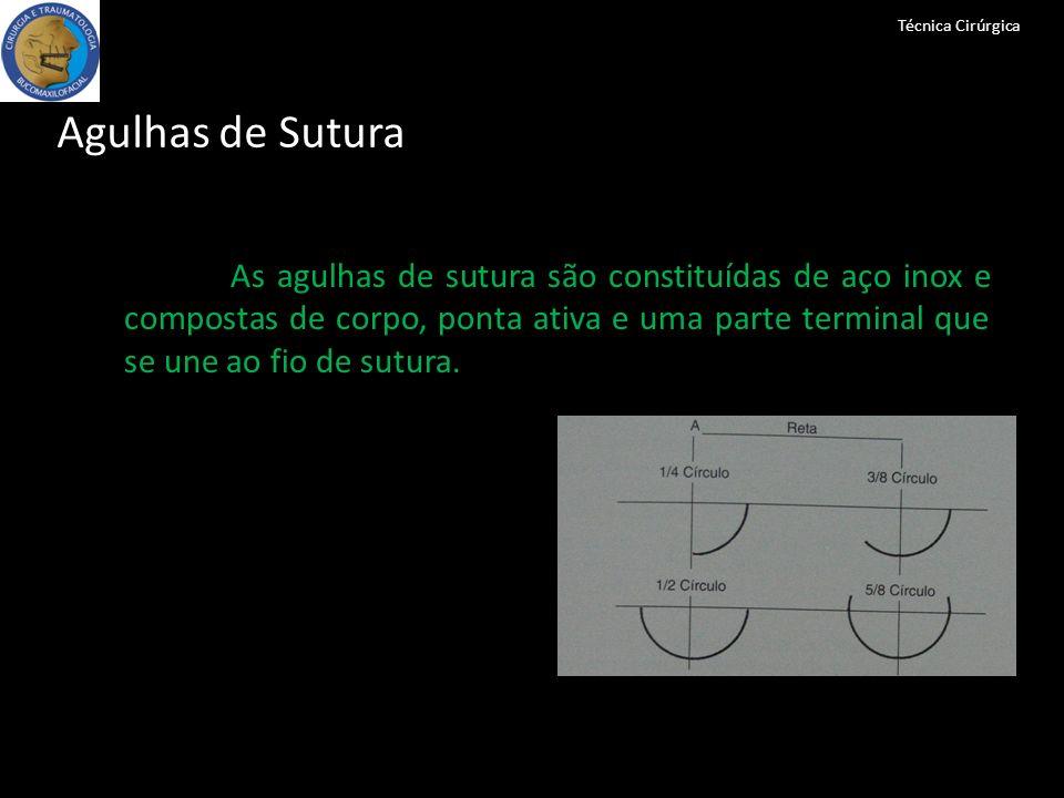 Técnica CirúrgicaAgulhas de Sutura.