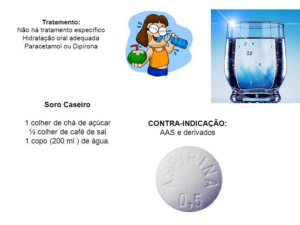Soro Caseiro CONTRA-INDICAÇÃO: