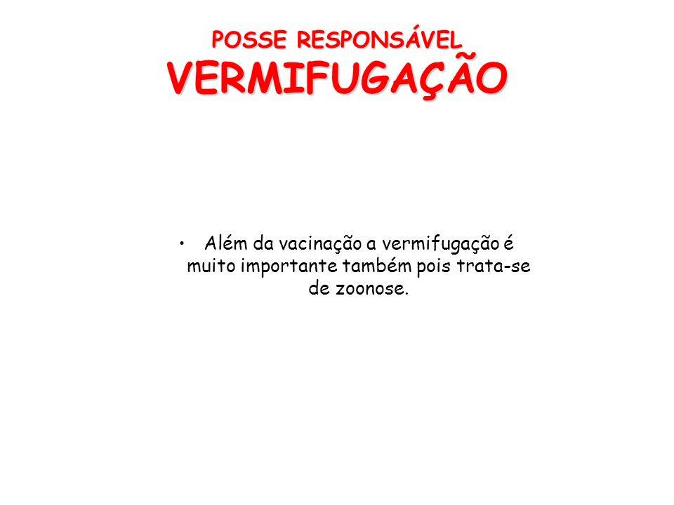 POSSE RESPONSÁVEL VERMIFUGAÇÃO