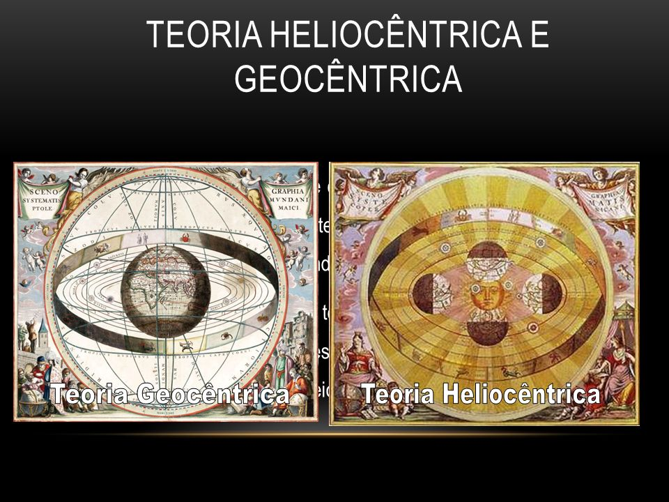 TEORIA HELIOCÊNTRICA E GEOCÊNTRICA