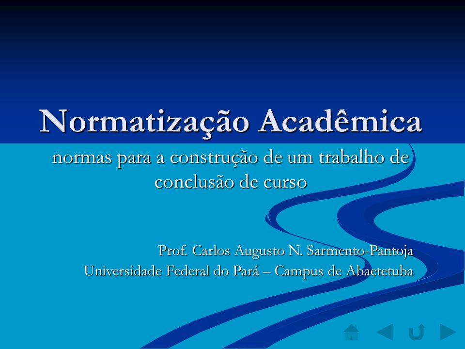 Normatização Acadêmica