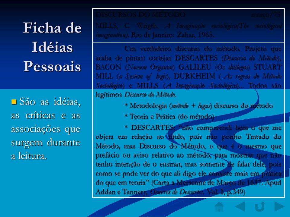 Ficha de Idéias Pessoais