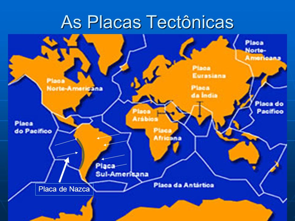 As Placas Tectônicas Placa de Nazca