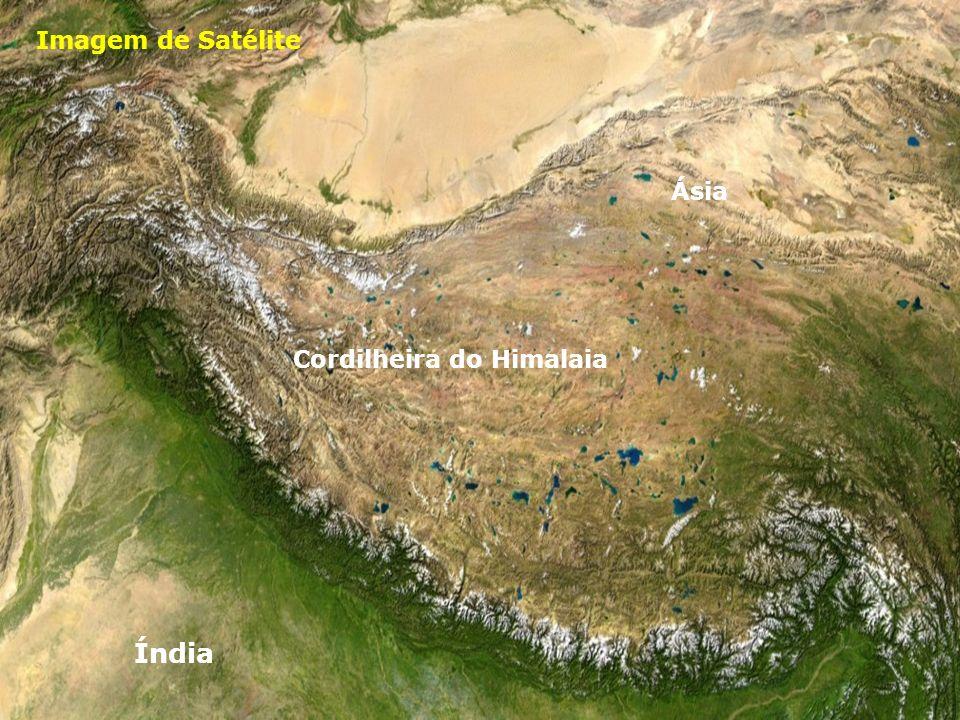 Imagem de Satélite Ásia Cordilheira do Himalaia Índia