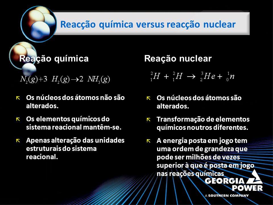 Reacção química versus reacção nuclear