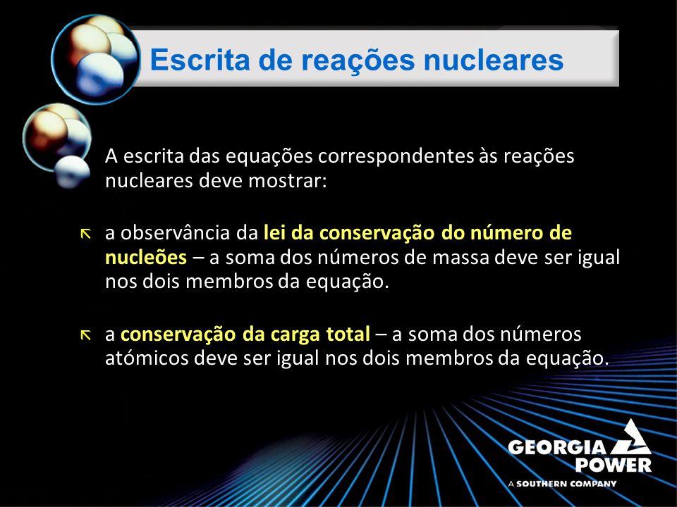 Escrita de reações nucleares