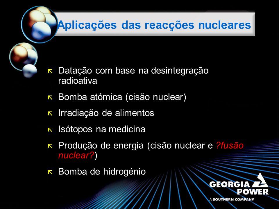 Aplicações das reacções nucleares