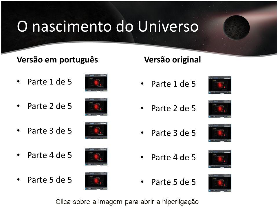 O nascimento do Universo