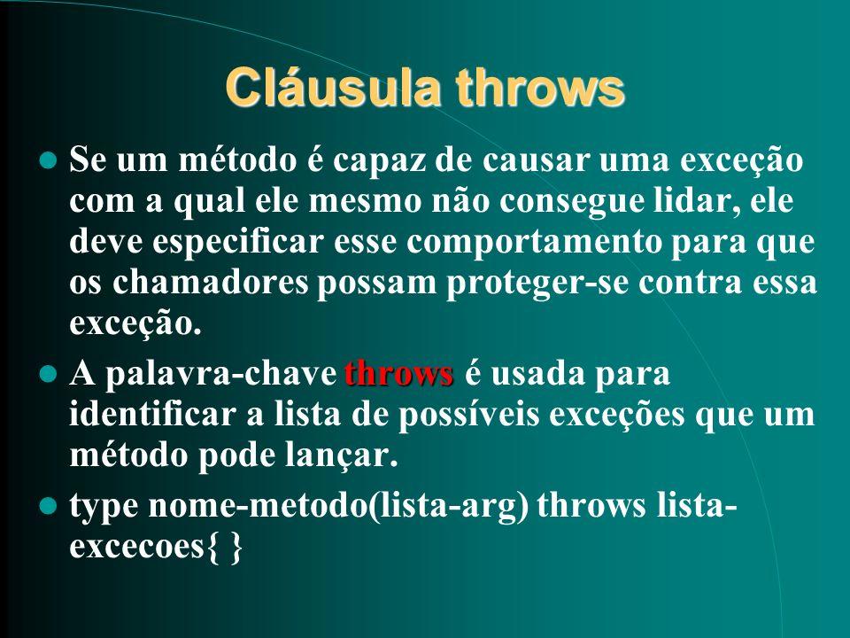 Cláusula throws